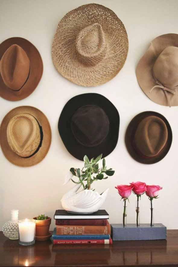 Ideias para usar chapéus na decoração 011