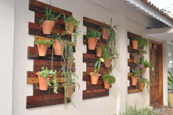 Jardim suspenso na decoração 005