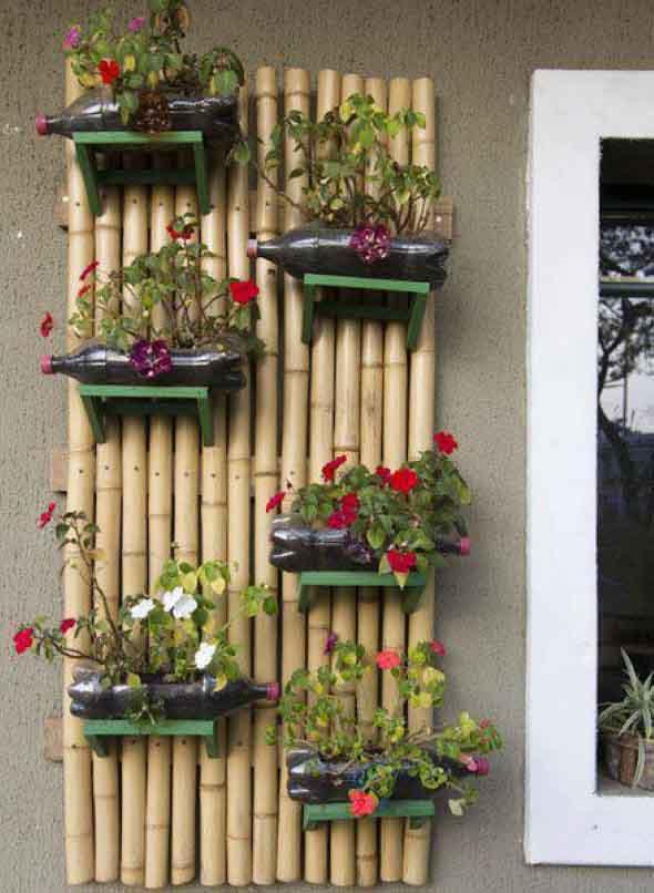 Jardim suspenso na decoração 007