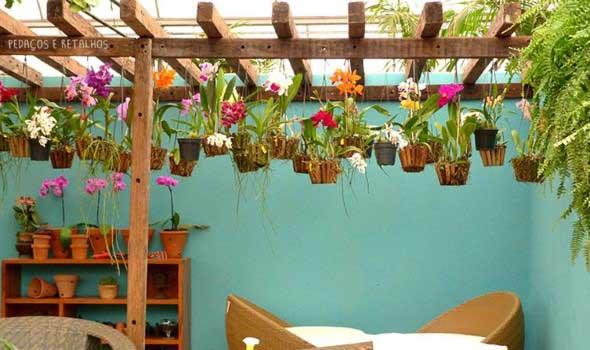 Jardim suspenso na decoração 008