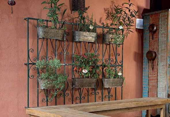Jardim suspenso na decoração 016