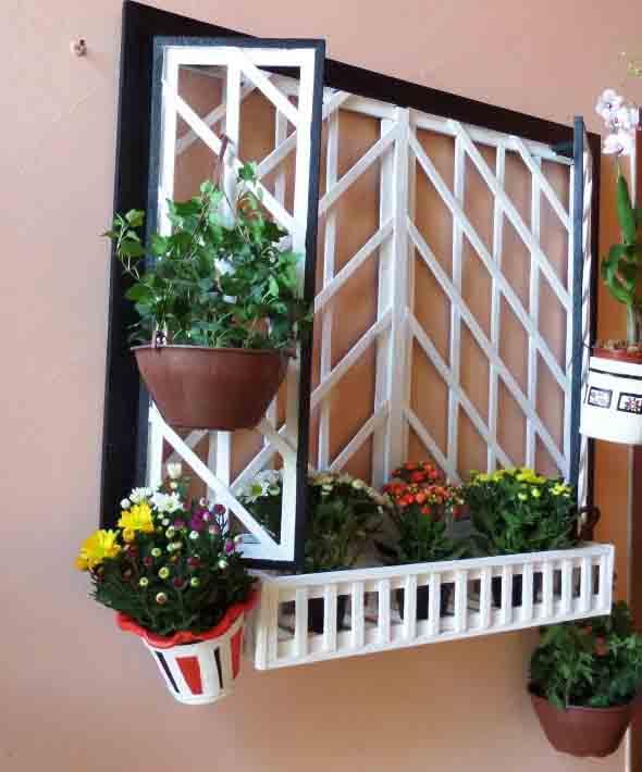 Jardim suspenso na decoração 018