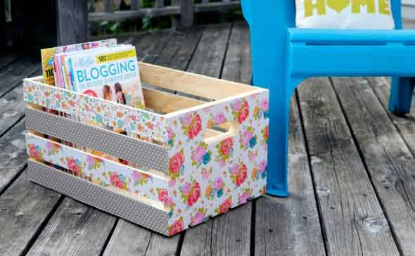 DIY - Porta revistas artesanal 004