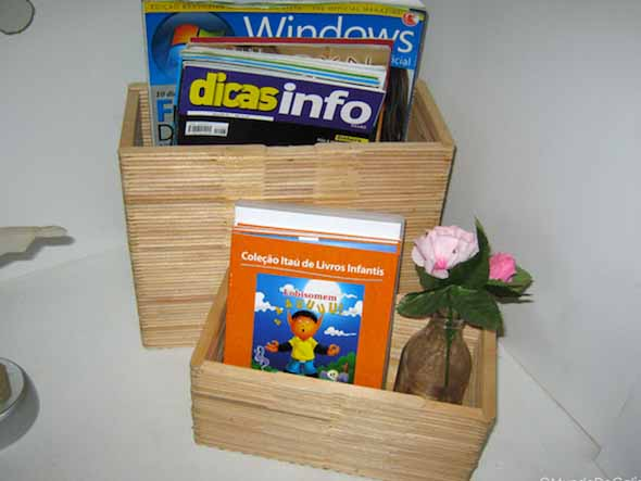 DIY - Porta revistas artesanal 010