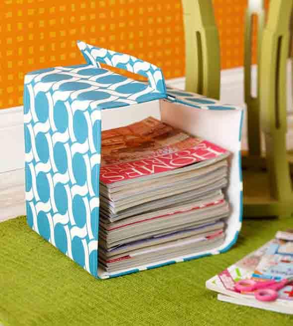 DIY - Porta revistas artesanal 012