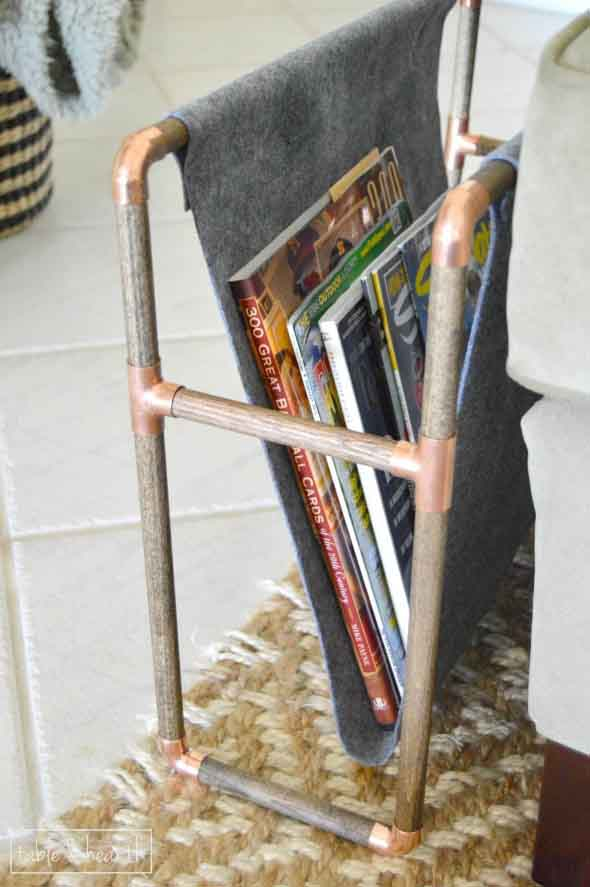 DIY - Porta revistas artesanal 013