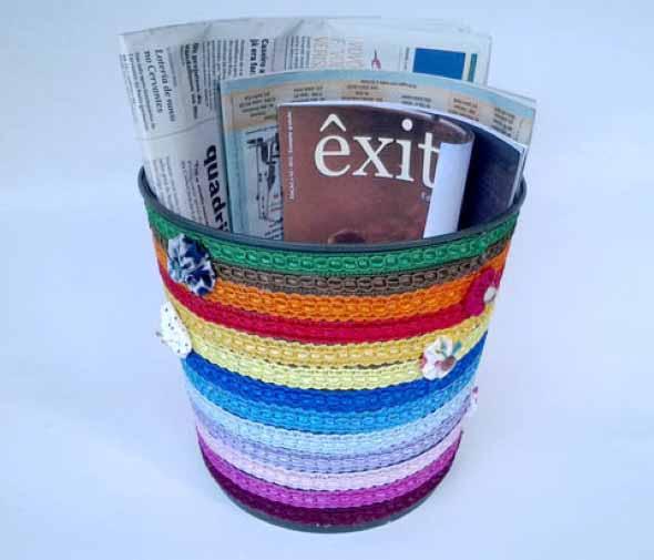 DIY - Porta revistas artesanal 014