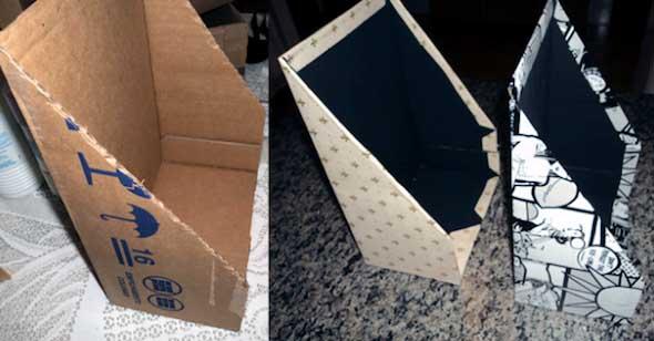 DIY - Porta revistas artesanal 018