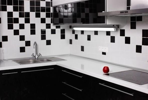 Dicas para decorar cozinhas preto e branco 004