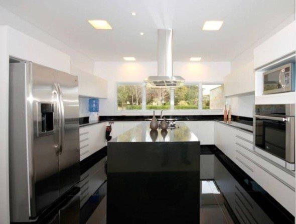 Dicas para decorar cozinhas preto e branco 009