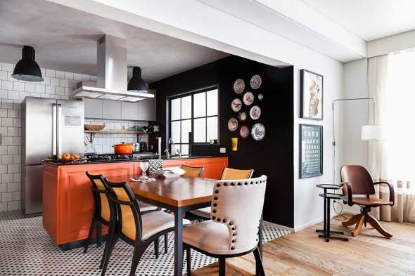 Dicas para decorar cozinhas preto e branco 012