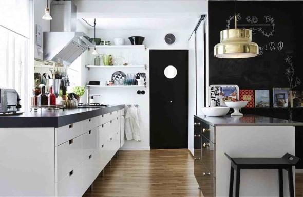 Dicas para decorar cozinhas preto e branco 014