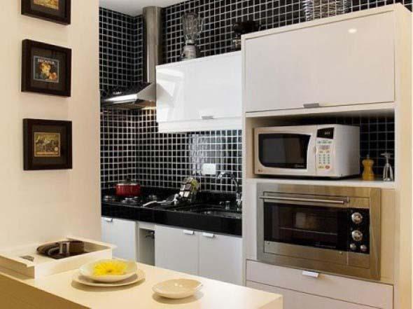 Dicas para decorar cozinhas preto e branco 018