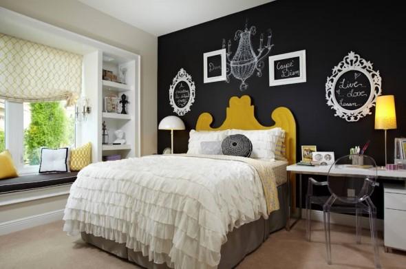 Usar tinta lousa na decoração do quarto 002