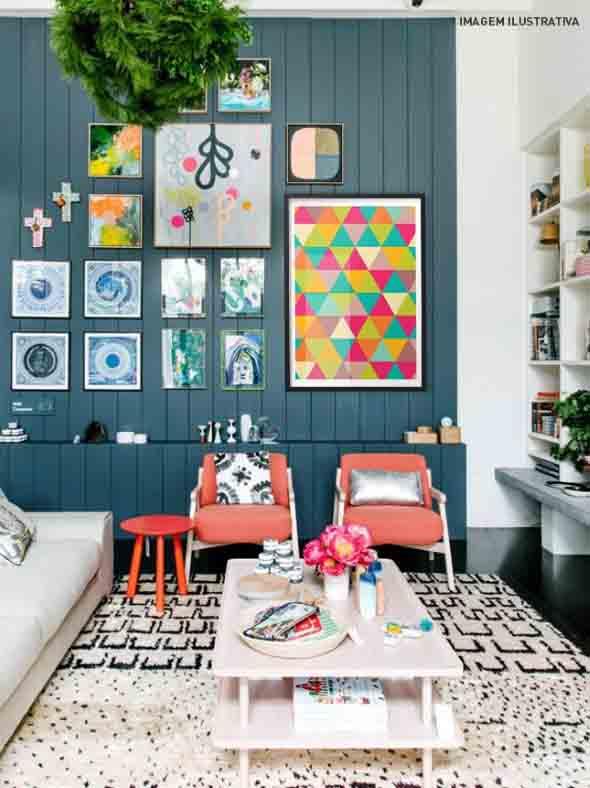 Dicas de decoração com quadros coloridos 003