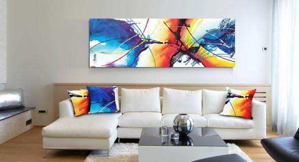 Dicas de decoração com quadros coloridos 017