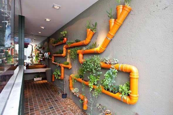 Jardim vertical no corredor 013