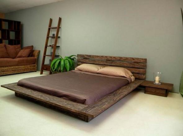 Modelos de camas com visual rústico 003