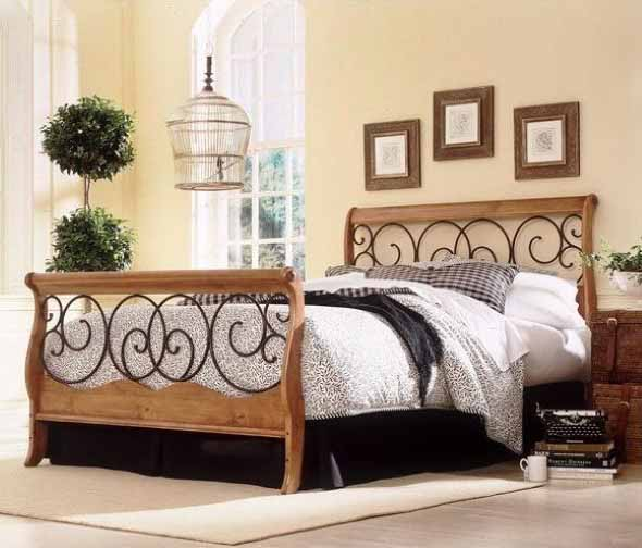 Modelos de camas com visual rústico 006