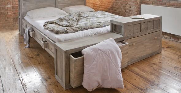 Modelos de camas com visual rústico 010