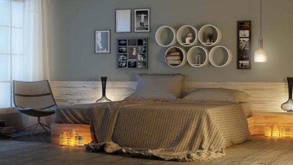 Modelos de nichos na decoração do quarto 016