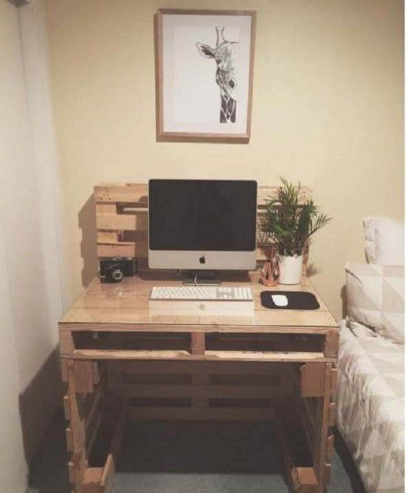 Monte seu home Office com paletes 001