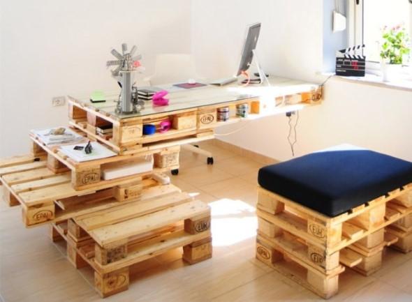 Monte seu home Office com paletes 004