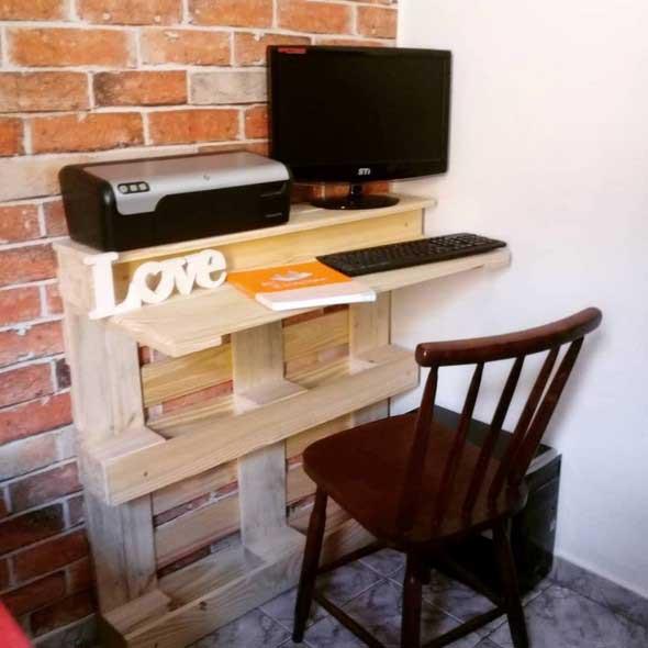 Monte seu home Office com paletes 005
