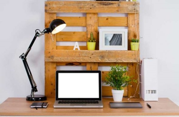 Monte seu home Office com paletes 006
