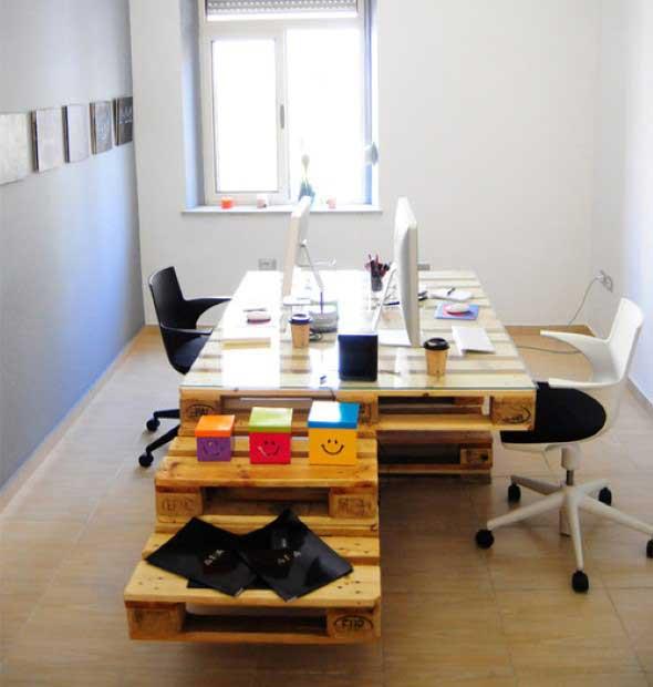 Monte seu home Office com paletes 008