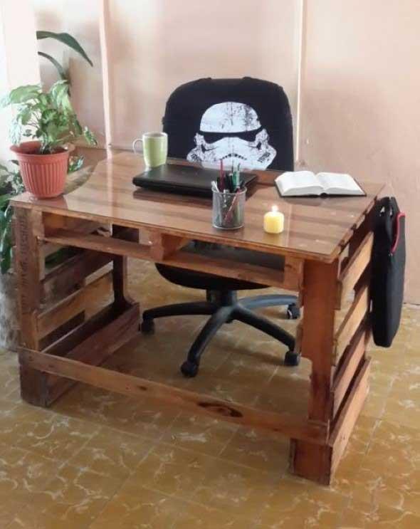 Monte seu home Office com paletes 009