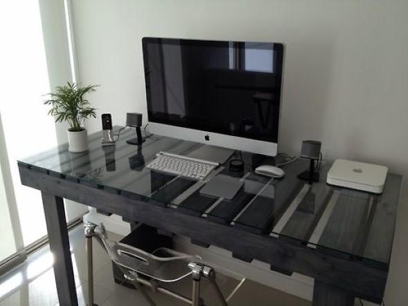 Monte seu home Office com paletes 011