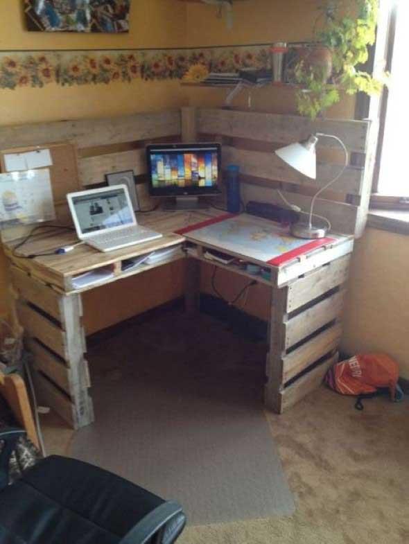 Monte seu home Office com paletes 015