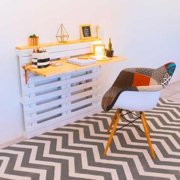 Monte seu home Office com paletes 016