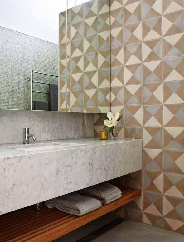 Papel de parede geométrico na decoração 008