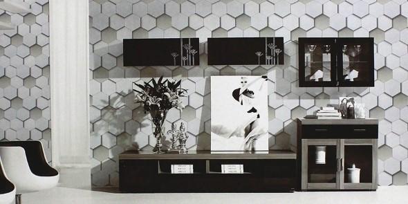 Papel de parede geométrico na decoração 009