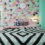 Papel de parede geométrico na decoração 013