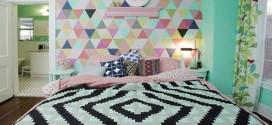 Papel de parede geométrico na decoração