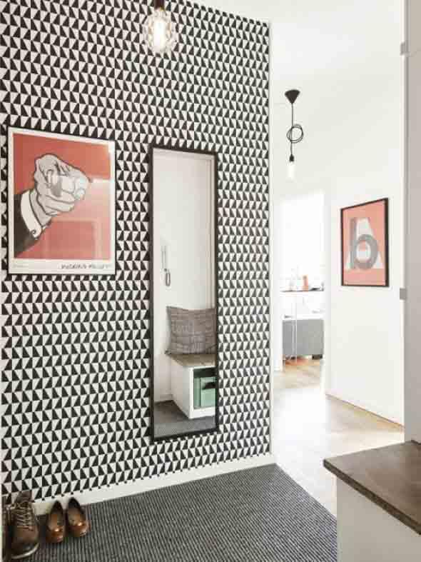 Papel de parede geométrico na decoração 014