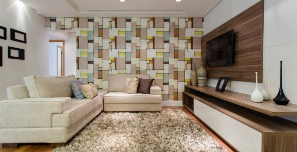 Papel de parede geométrico na decoração 015