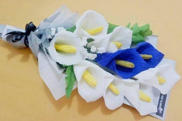 flor papel crepom