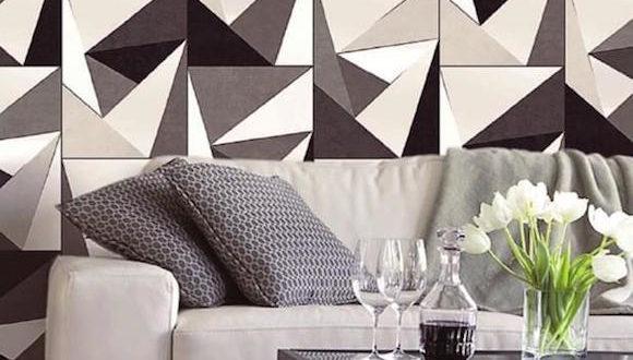 Revestimento geométricos na decoração