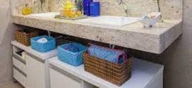 Organizar bancada do banheiro